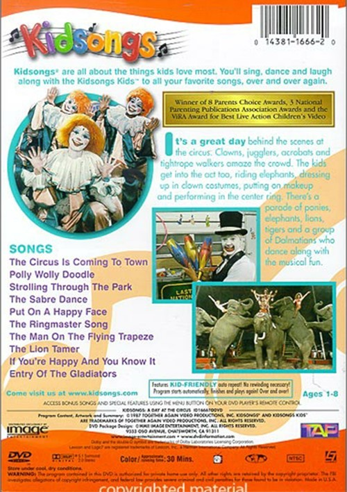 Kidsongs: A Day At The Circus (DVD 1987)   DVD Empire