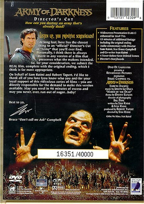 army of darkness director cut blu ray review