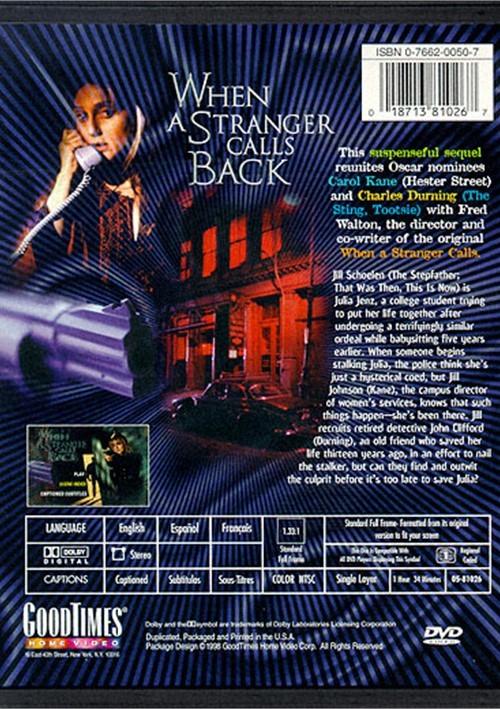When A Stranger Calls Back Dvd 1993 Dvd Empire