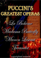 Puccinis Greatest Operas: Box Set Movie