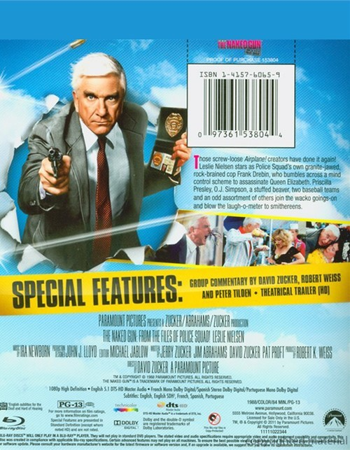 The Naked Gun: From the Files of Police Squad DVD
