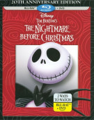 Nightmare Before Christmas, The: 20th Anniversary Edition (Blu-ray + DVD) Blu-ray