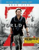 World War Z (Blu-ray + DVD + Digital Copy) Blu-ray