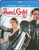 Hansel And Gretel: Witch Hunters 3D (Blu-ray 3D + Blu-ray + DVD) Blu-ray