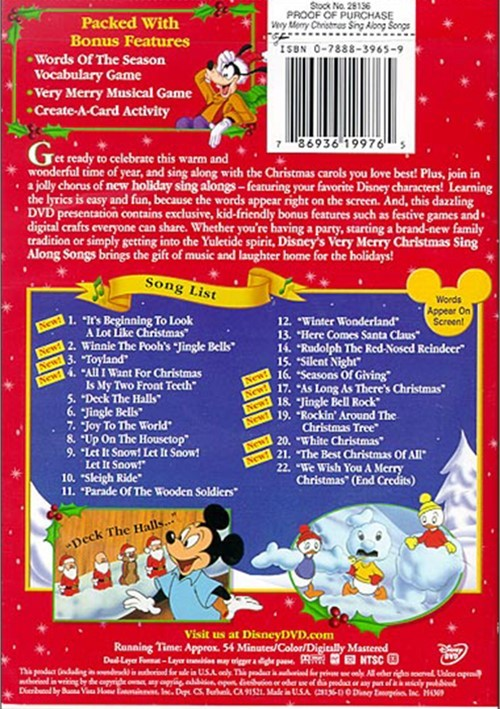Disney Sing Along Songs Very Merry Christmas Songs 1988 Vhs.Very Merry Christmas Songs Dvd Sequoia National Park Lodging
