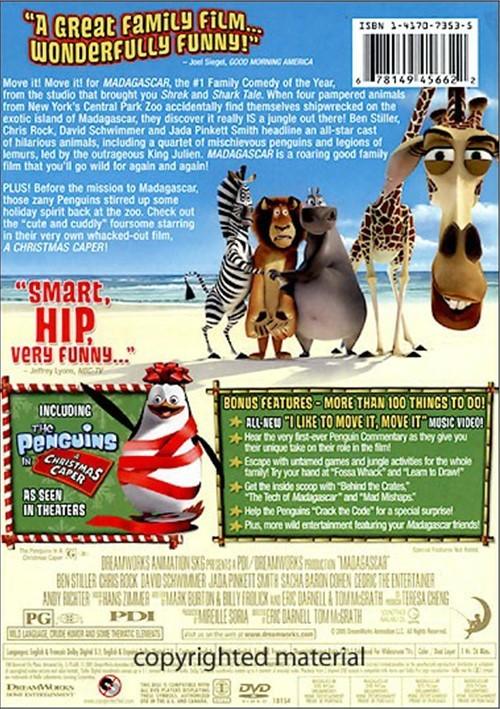 madagascar dvd 2005 widescreen - photo #3