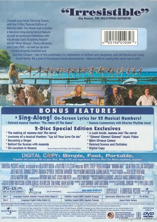 Mamma Mia 2 Dvd