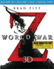World War Z 3D (Blu-ray 3D + Blu-ray + DVD + Digital Copy) Blu-ray