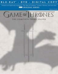 Game Of Thrones: The Complete Third Season (Blu-ray + Digital Copy) Blu-ray