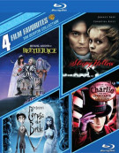 4 Film Favorites: Tim Burton Collection Blu-ray