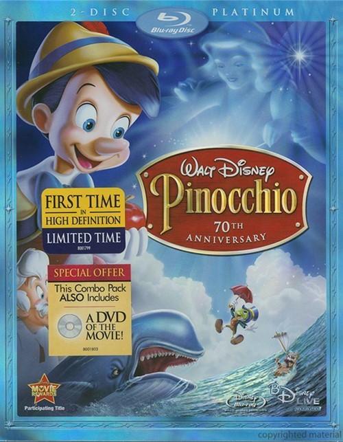 Pinocchio: 70th Anniversary - Platinum Edition (Blu-ray ...  Pinocchio 70th Anniversary Edition Dvd