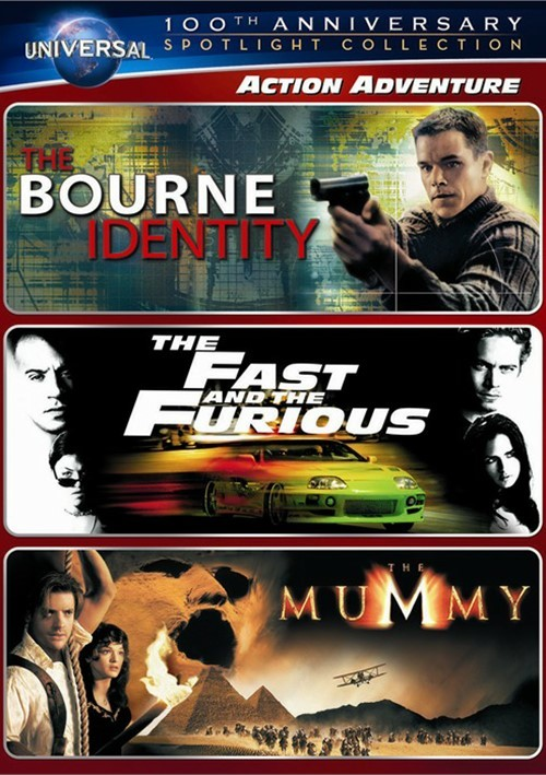 Action Adventure Spotlight Collection (The Bourne Identity / The Fast and the Furious / The Mummy) Movie