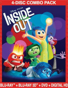 Inside Out (Blu-ray 3D + Blu-ray + DVD + Digital HD) Blu-ray