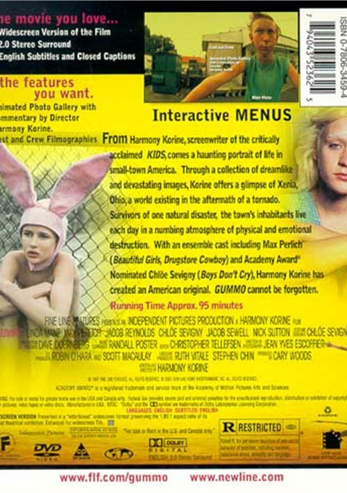 a review of the film gummo After his persuasively disturbing screenplay for larry clark's kids, harmony korine 's gummo comes as a disappointment set among the feral children of a hurricane-blasted ohio township, his directorial debut is notable mainly for the jolting charge of its collage technique, in which the brilliant cinematographer jean-yves escoffier is.