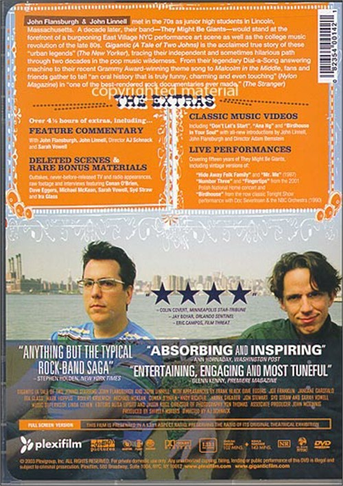a tale of two johns An unintentionally funny fanzine-flavored documentary about they might be giants, the indie-rock duo that has spent 20 years flitting along.