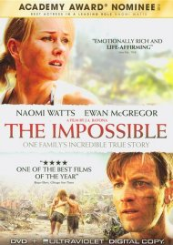 Impossible, The (DVD + Digital Copy + UltraViolet) Movie