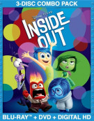 Inside Out (Blu-ray + DVD + Digital HD) Blu-ray