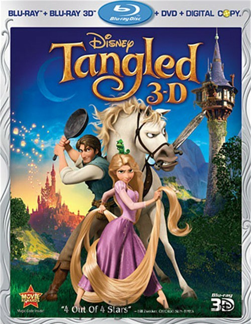 Tangled 3D (Blu-ray 3D + Blu-ray + DVD + Digital Copy) Blu-ray