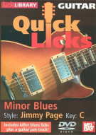 Guitar Quick Licks: Jimmy Page Style Minor Blues, Key Of C Movie