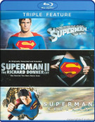 Superman: The Movie / Superman II: The Richard Donner Cut / Superman Returns (Triple Feature) Blu-ray
