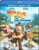 Tad: The Lost Explorer 3D (Blu-ray 3D + Blu-ray + DVD Combo) Blu-ray