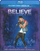 Justin Biebers Believe (Blu-ray + DVD + UltraViolet) Blu-ray
