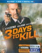 3 Days To Kill  (Blu-ray + DVD + UltraViolet) Blu-ray