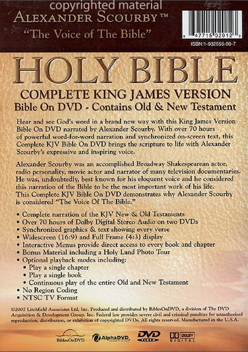 holy bible complete kjv bible on dvd narrated by