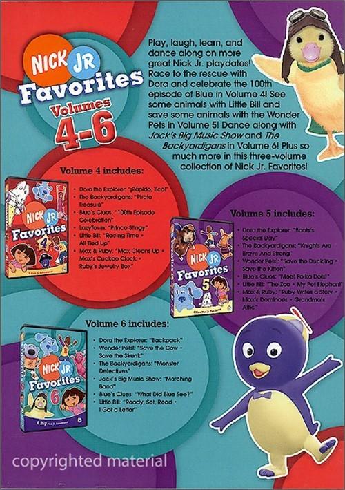Nick Jr Favorites Box Set 4 6 Dvd Dvd Empire