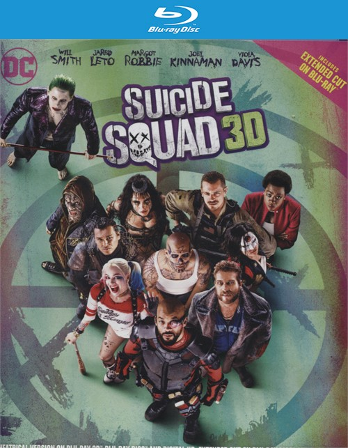 Suicide Squad (Blu-ray 3D + Blu-ray + DVD + UltraViolet) Blu-ray
