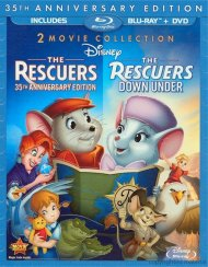 Rescuers, The: 35th Anniversary Edition - 2 Movie Collection (Blu-ray + DVD Combo) Blu-ray