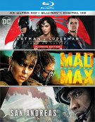 Batman v Superman: Dawn of Justice Ultimate Edition / Mad Max: Fury Road / San Andreas (4K Ultra HD + Blu-ray + UltraViolet) Blu-ray