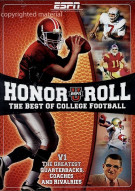Honor Roll: The Best Of College Football - Vol. 1 Movie