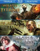 Clash Of The Titans (2010) / Clash Of The Titans (1981) / Wrath Of The Titans (2012) Blu-ray
