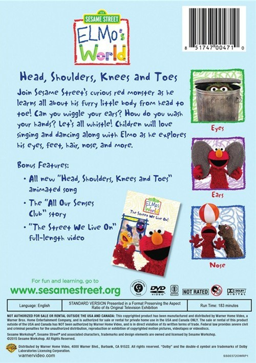 Elmo's World: Head, Shoulders, Knees And Toes (DVD 2015 ...