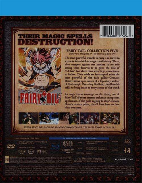 Fairy Tail – Collection 5 (Blu-ray / DVD Combo Pack