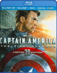 Captain America: The First Avenger 3D (Blu-ray 3D + Blu-ray + DVD + Digital Copy) Blu-ray