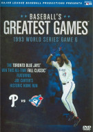 Baseballs Greatest Games: 1993 World Series Game 6 Movie
