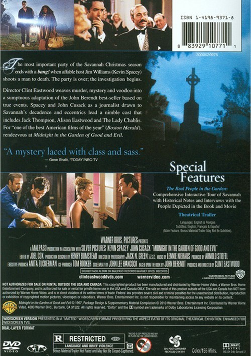Midnight in the garden of good evil dvd 1997 dvd empire In the garden of good and evil movie