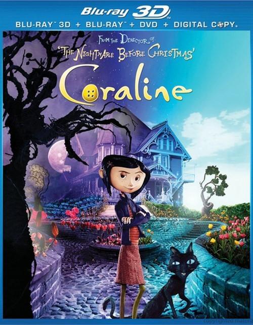 Coraline 3D (Blu-ray 3D + Blu-ray + DVD + Digital Copy) Blu-ray