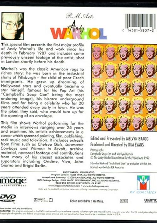 andy warhol dvd 1987 dvd empire. Black Bedroom Furniture Sets. Home Design Ideas