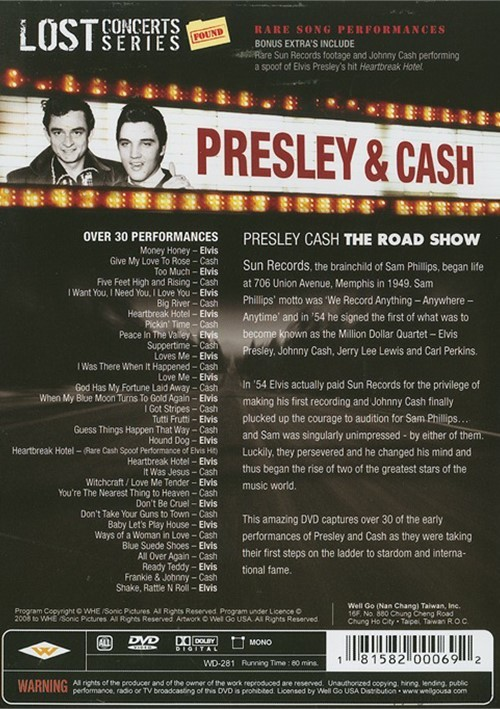 lost concerts series presley cash roadshow dvd 2008