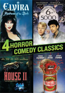 4 Horror Comedy Classics (Elvira / Transylvania 6-5000 / Return Of The Killer Tomatoes / House II) Movie