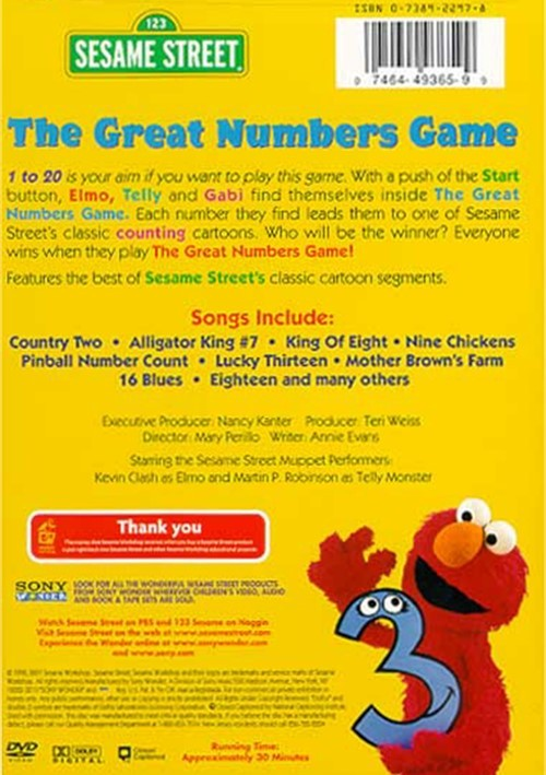The Great Numbers Game Sesame Street Pictures To Pin On