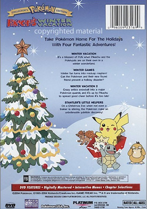 Vacation Dvd Empire: Pokemon: Pikachu's Winter Vacation (DVD 1995)