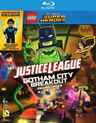 Lego DC Comics Super Heroes: Justice League - Gotham City Breakout w/ Figurine (Blu-ray + DVD + UltraViolet) Blu-ray