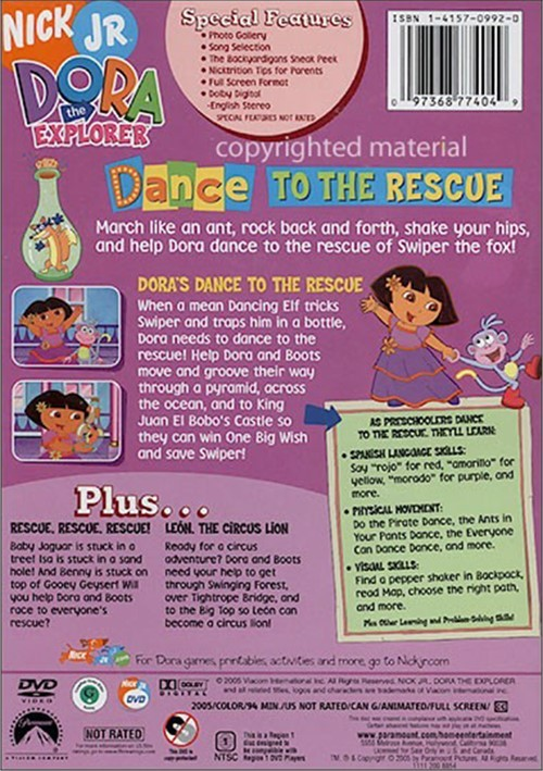Dora The Explorer: Dance To The Rescue (DVD 2005) | DVD Empire