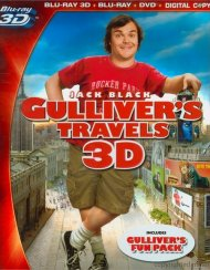 Gullivers Travels 3D (Blu-ray 3D + Blu-ray + DVD + Digital Copy) Blu-ray