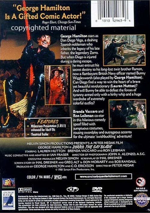 Zorro The Gay Blade Dvd 58