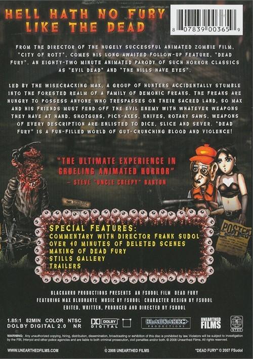 dead fury dvd 2008 dvd empire